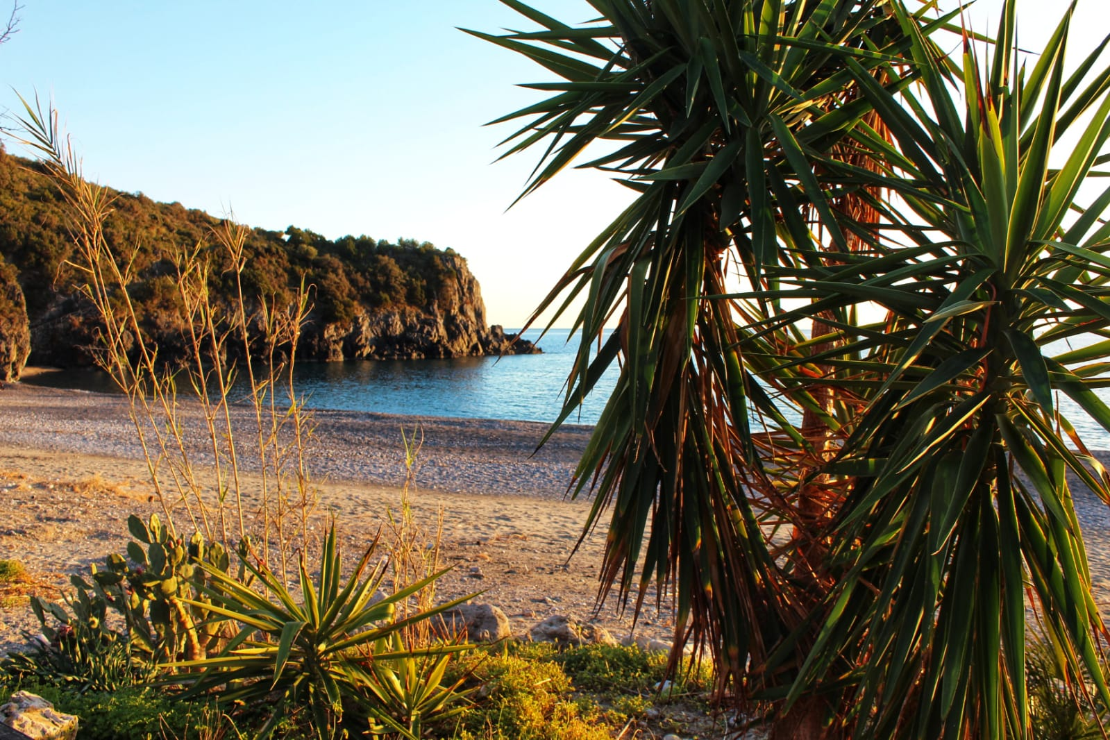 La spiaggia di Lentiscelle a Marina di Camerota
